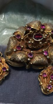 gold plate and purple stone jewelry